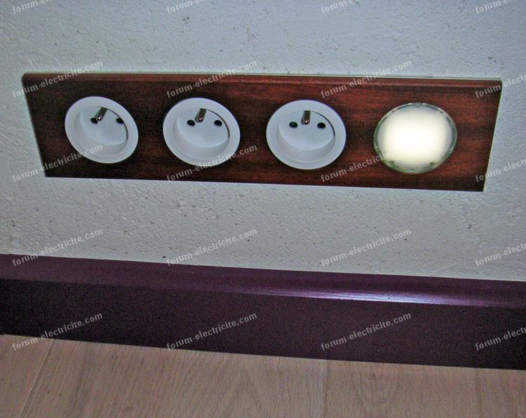 installation avec plinthe électrique