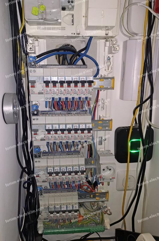 installation borne tableau électrique