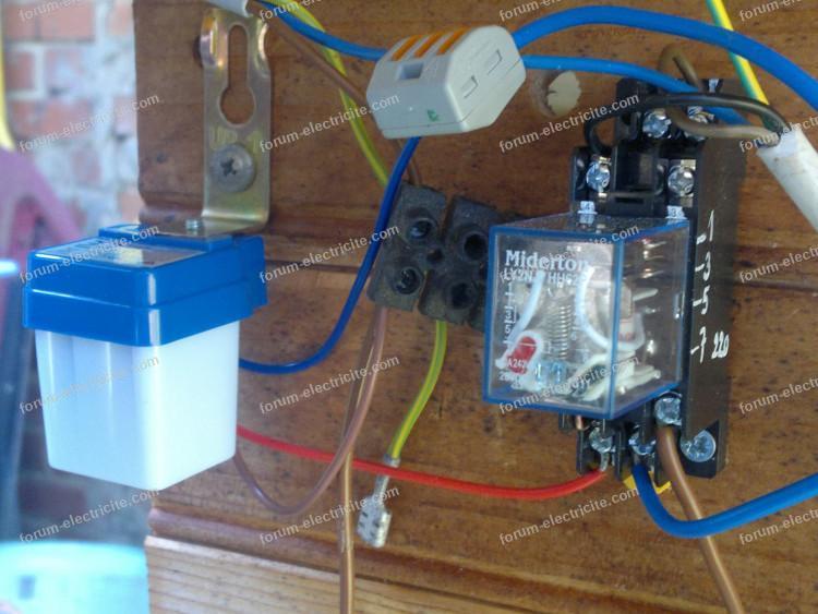 installation détecteur crépusculaire