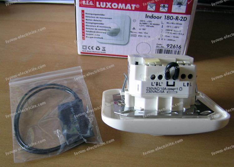 installation détecteur Luxomat
