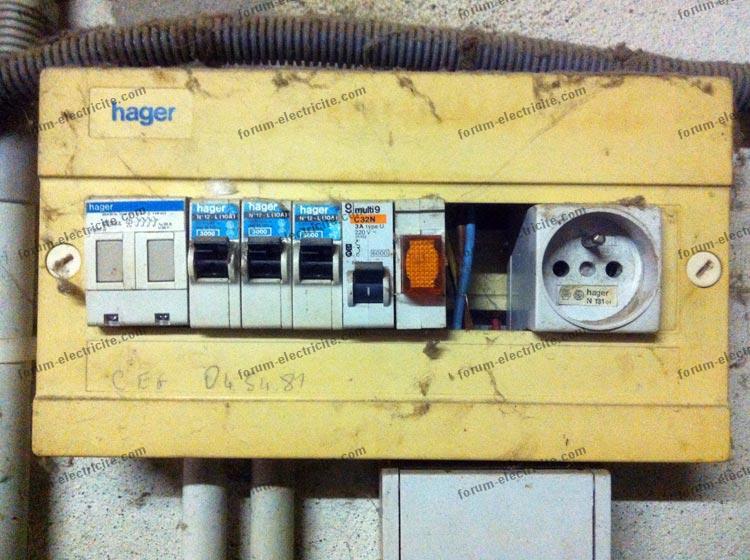 installation électrique actuelle