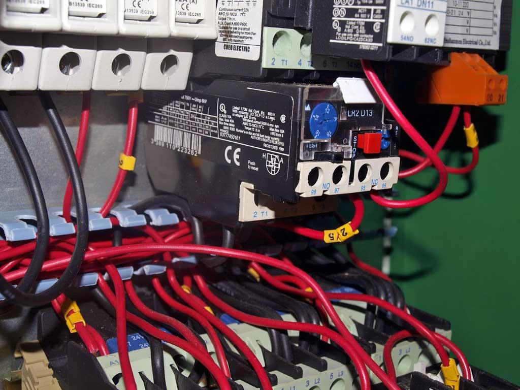 installation electrique combine bois avant 4