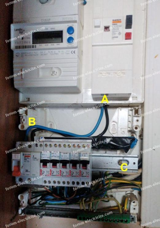 installation tableau électrique ouverte