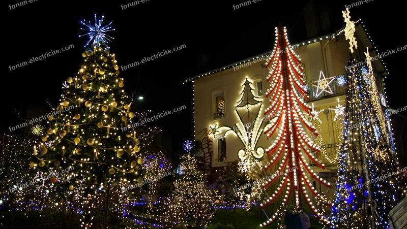 installation dédiée illuminations de Noël