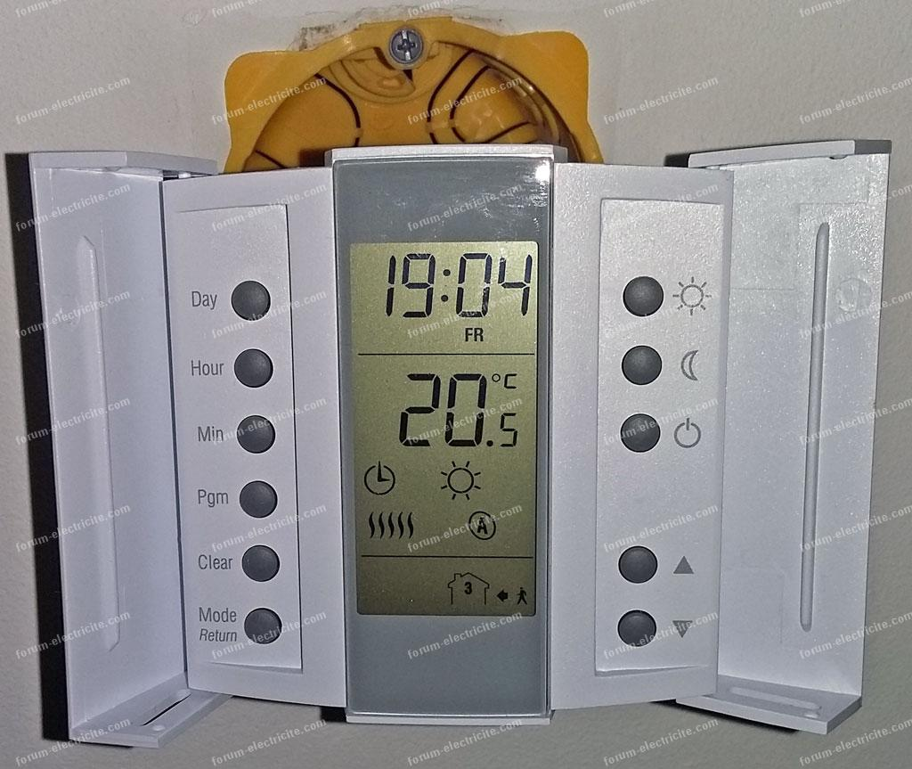 installation thermostat Aube technologie TH232