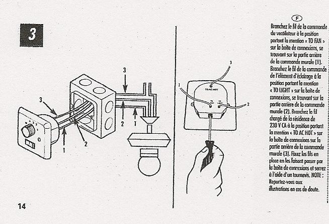 lectricit bricolage branchement ventilateur luminaire de plafond. Black Bedroom Furniture Sets. Home Design Ideas