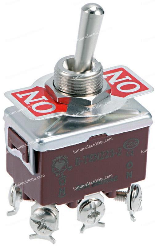 interrupteur à bascule robuste 20A 250V
