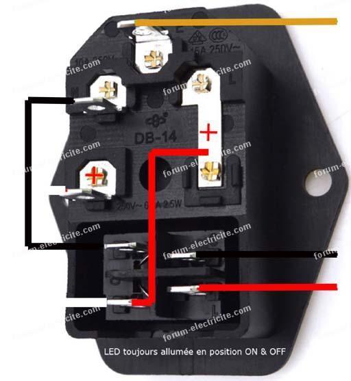 interrupteur alimentation imprimante 3D
