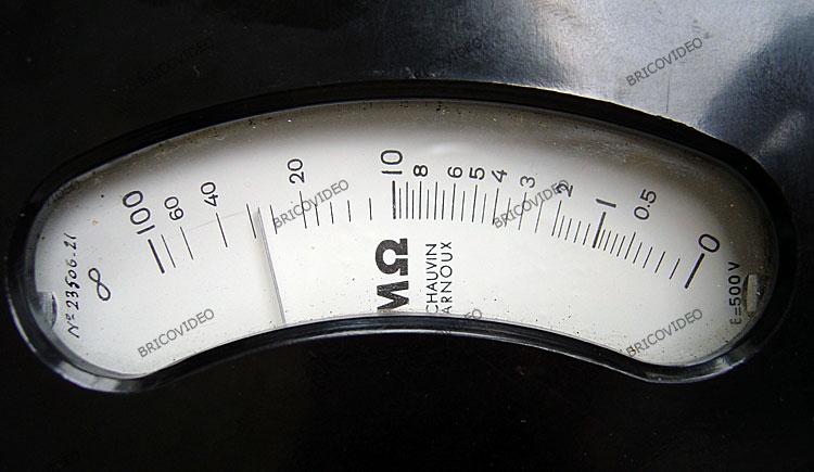 ohmmètre à magnéto logomètre