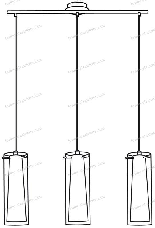 longueur suspensions plafonnier