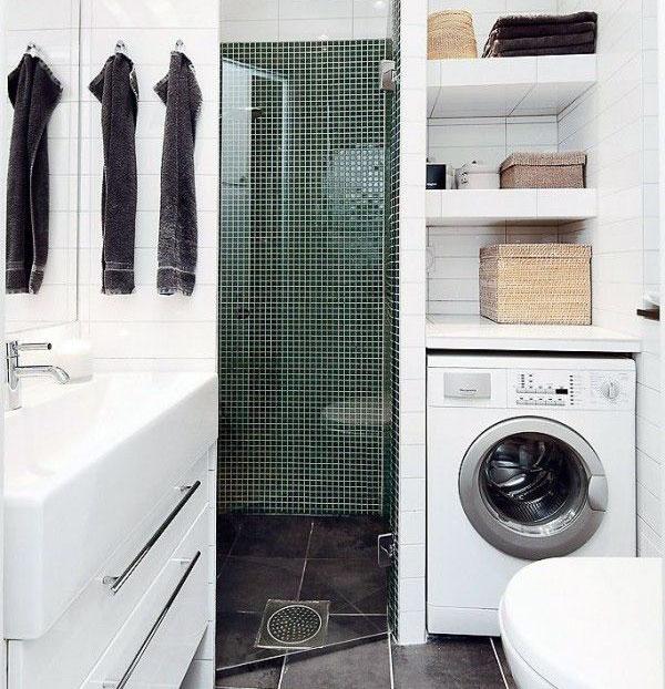 machine à laver contre douche