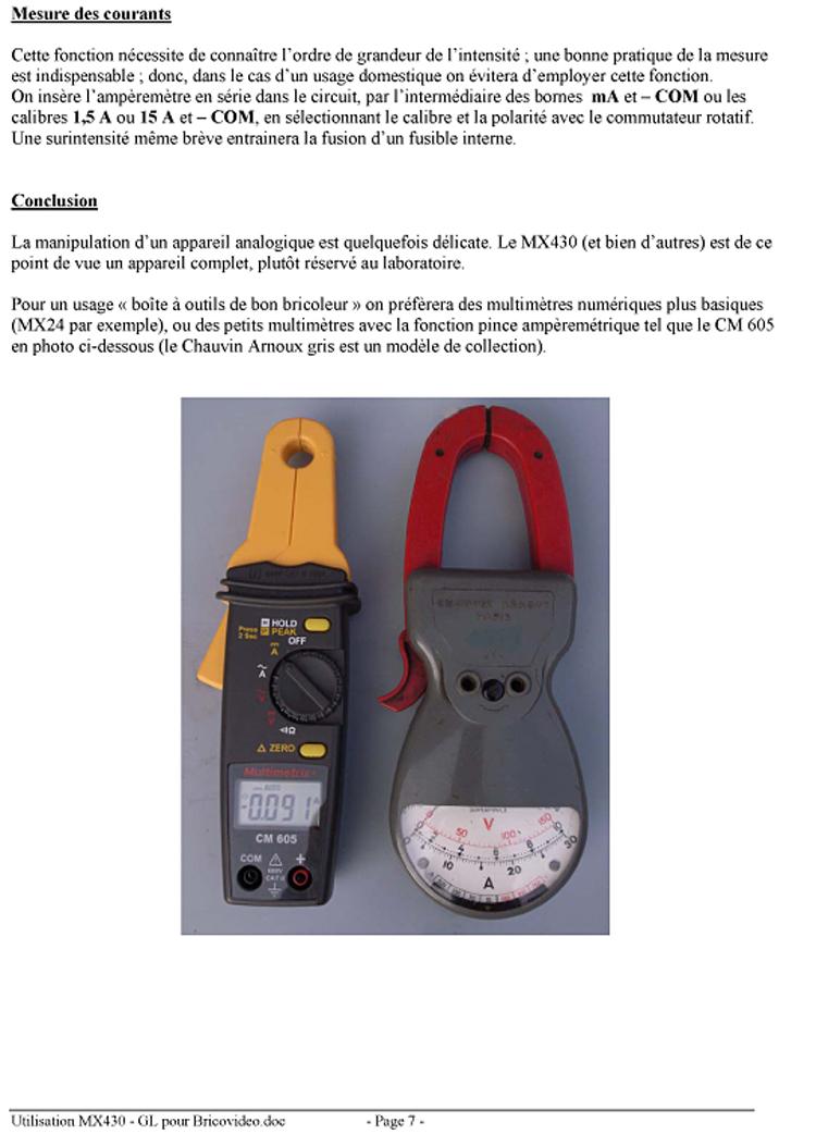 mesure electrique metrix bv0618