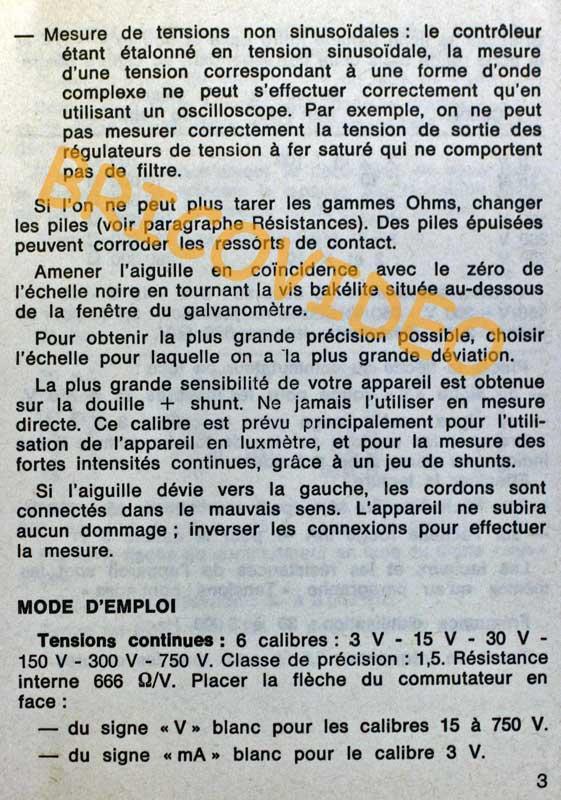 Multimètre Metrix MX 453 D page 3