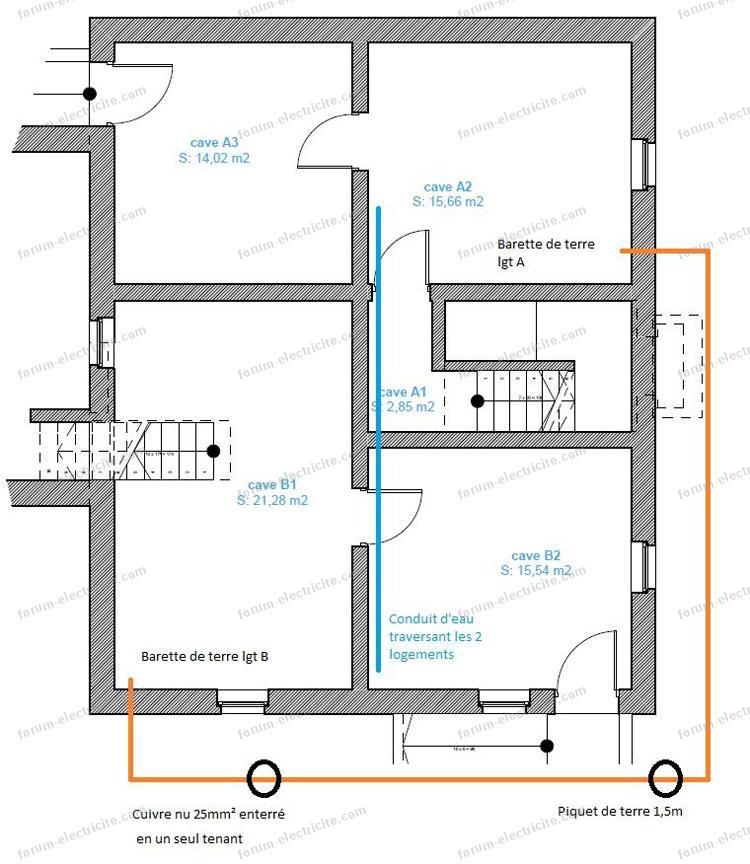 lectricit questions et r ponses mise la terre de deux logements. Black Bedroom Furniture Sets. Home Design Ideas