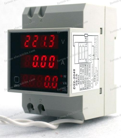 multimètre sur rail pour tableau électrique