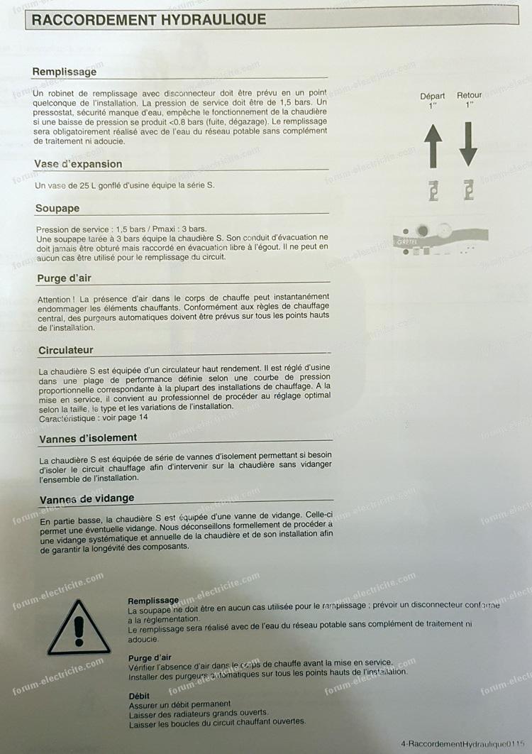 notice chaudière électrique Grétel