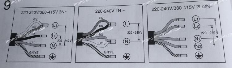Questions Reponses Electricite Branchement Plaque Induction 5 Fils Sur Installation 3 Fils