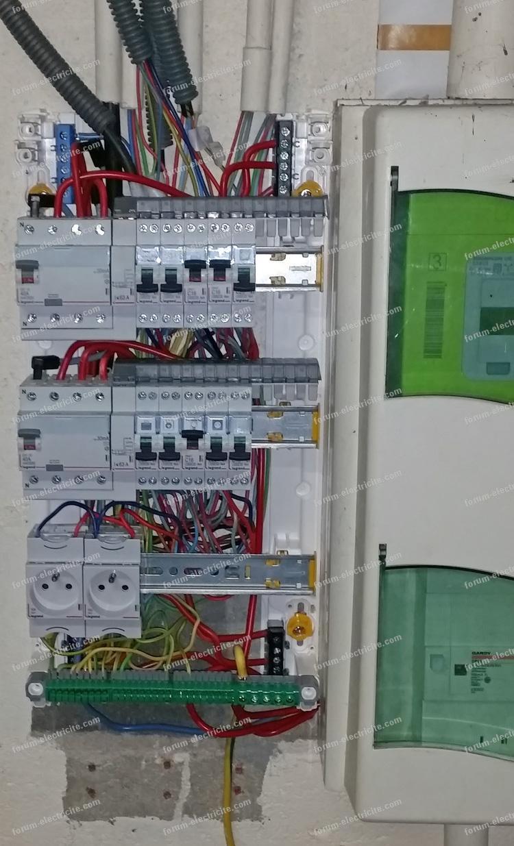 nouveau tableau électrique garage
