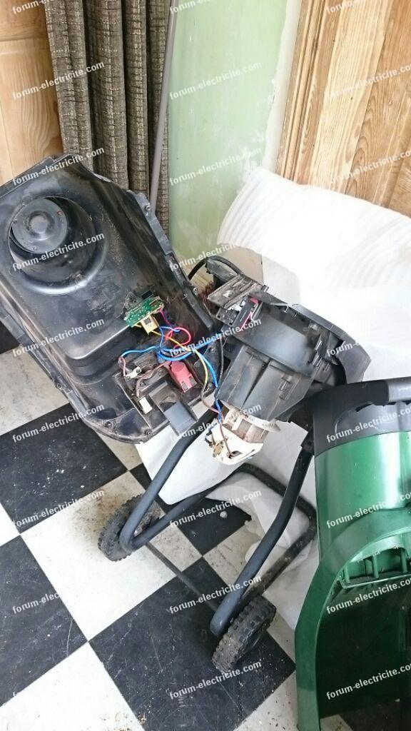 perte de puissance moteur broyeur à végétaux