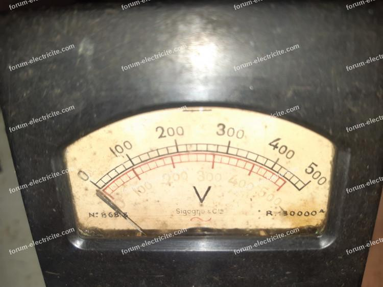 cadran voltmètre
