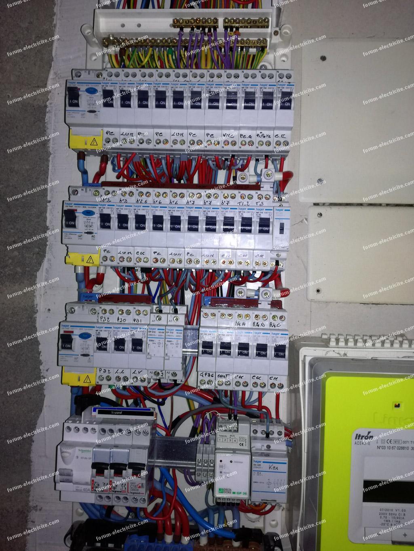 photo du tableau électrique