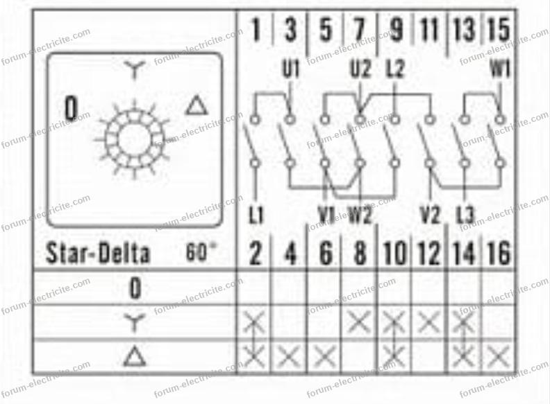plan branchement commutateur