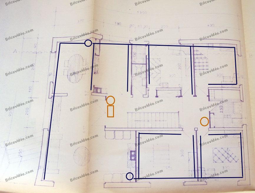 plan distribution des fils et câbles
