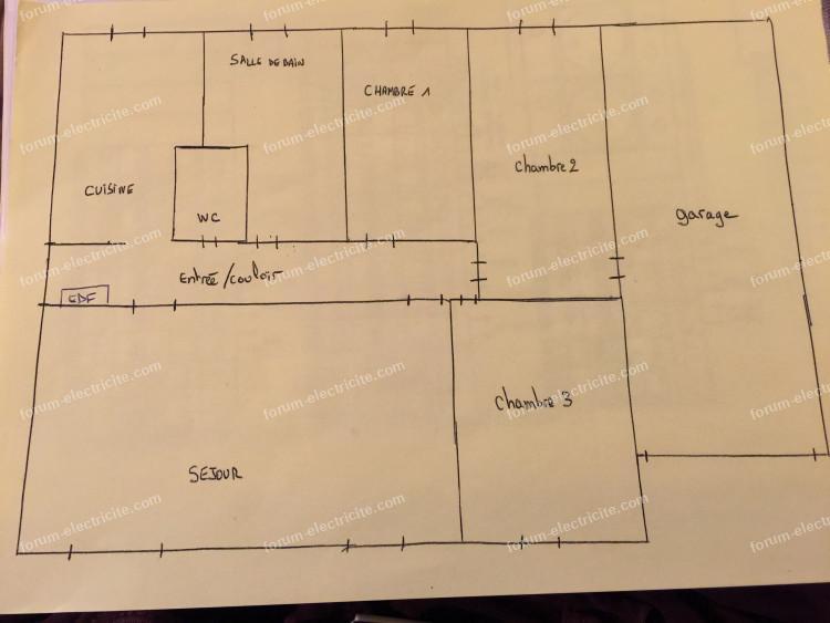 électricité plan de la maison