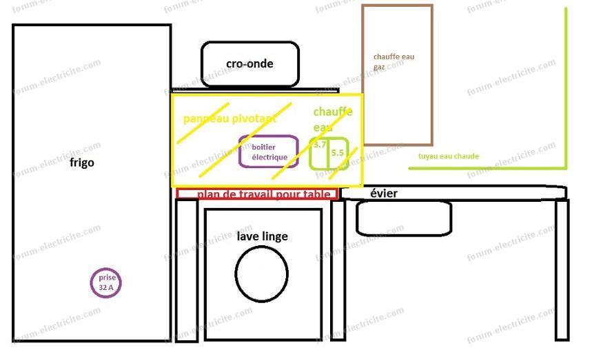 plan electrique cuisine