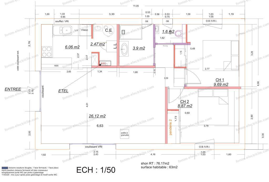 plan maison forum électricité