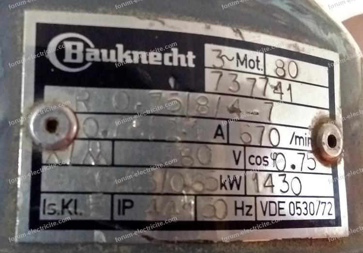 plaque signalétique moteur Bauknecht