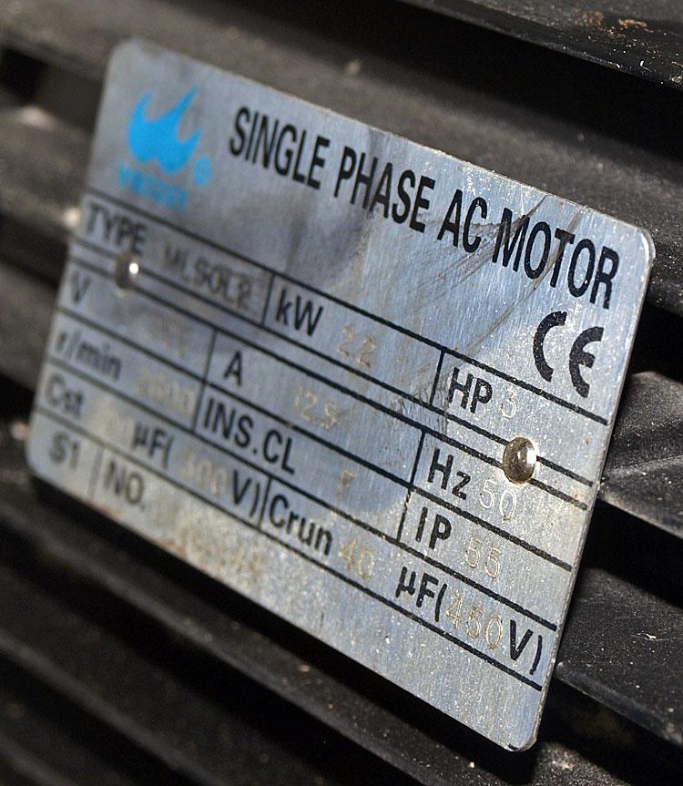 plaque signalétique moteur électrique combiné bois