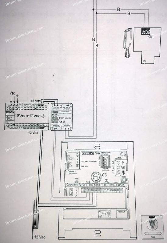 forum lectricit modifier lumi re sur interphone fermax. Black Bedroom Furniture Sets. Home Design Ideas