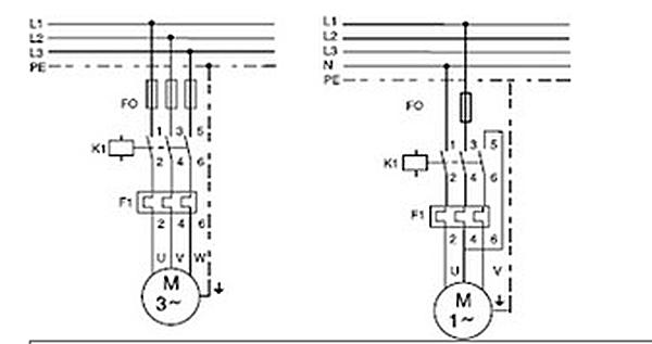 branchement moteur monophase