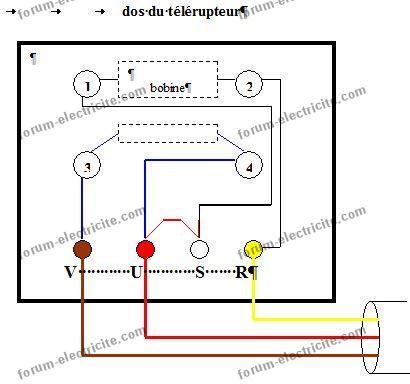 schéma câblage télérupteur à mercure