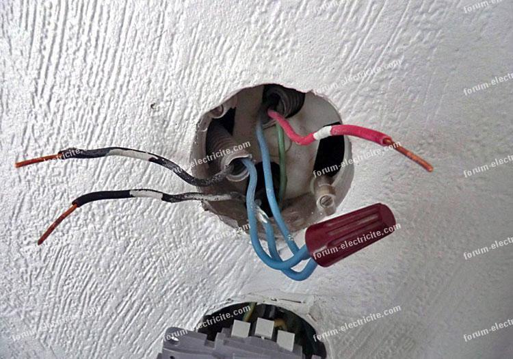 Problème branchement interrupteur éclairage