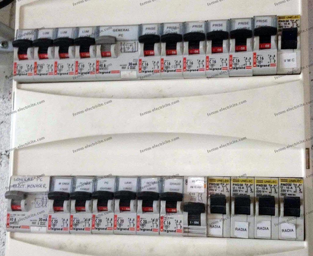 Problème câblage tableau électrique