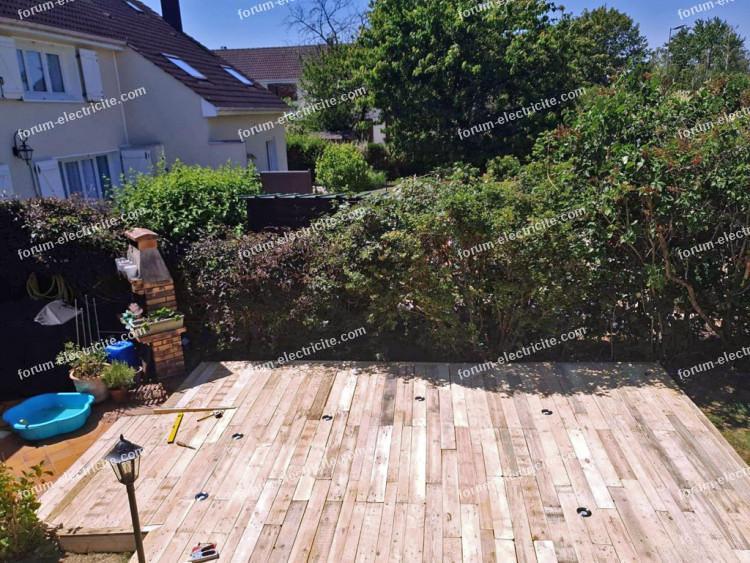 problème éclairage terrasse