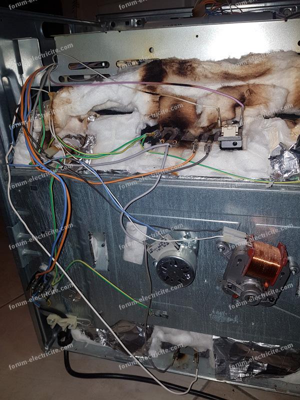 probléme électrique four