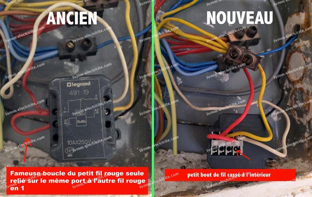 Forum Electricite Probleme Remplacement Telerupteur Legrand