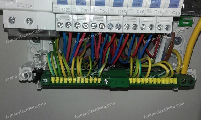raccordement tableau électrique principal