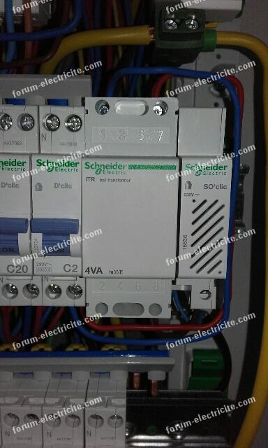 raccordement tableau électrique principal suite