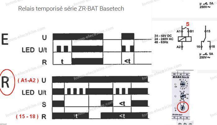 relais temporisé Basetech ZR-67-BAT