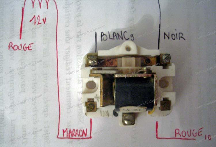 remplacement ancien télérupteur schéma