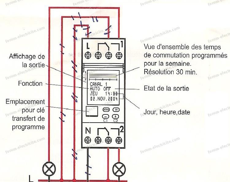remplacement horloge horaire chauffe eau bv01