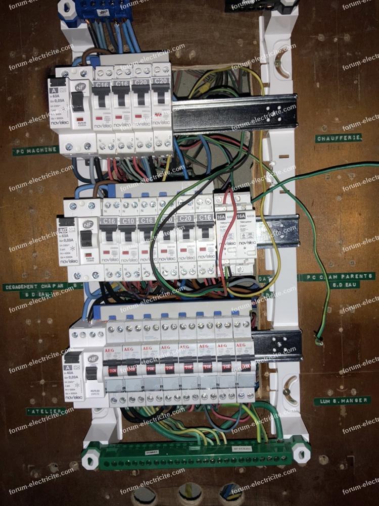 remplacement télérupteur GM 45000 par télérupteur modulaire