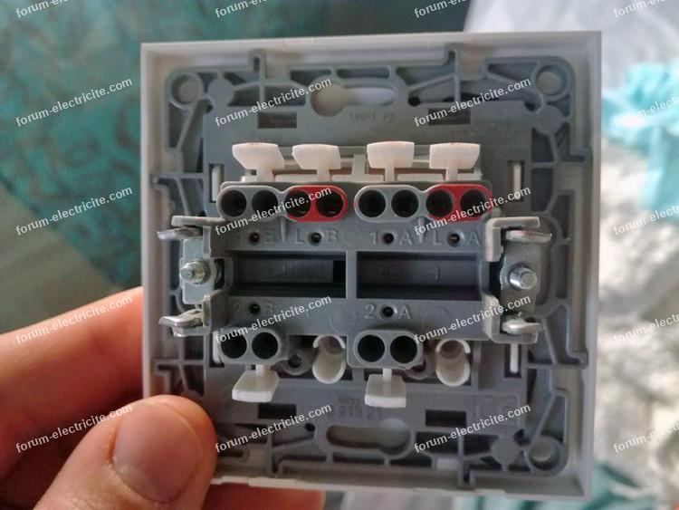 remplacement ancien double interrupteur