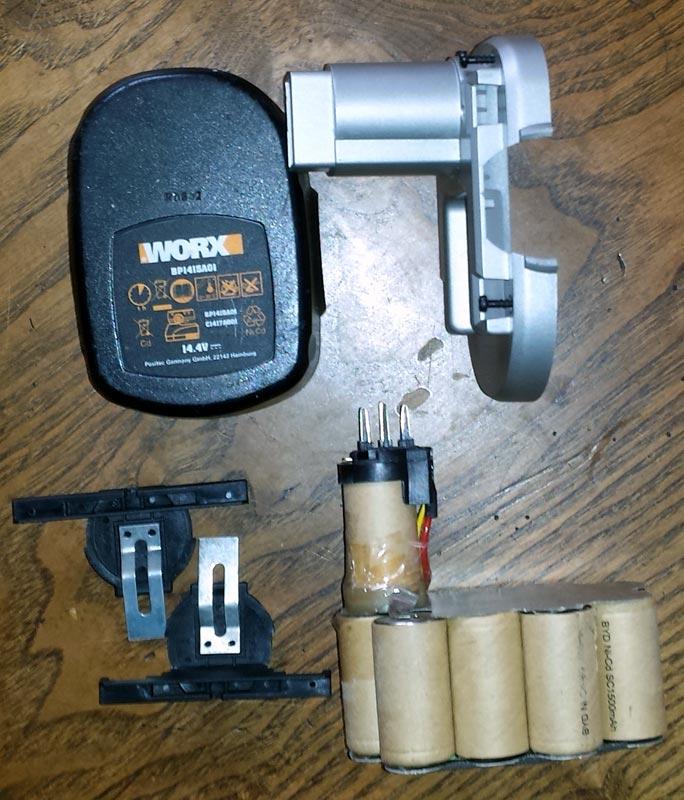 Remplacer batterie 14.4V en Ni-Cd visseuse WORX