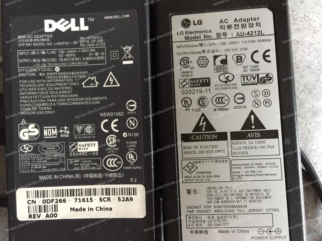 Remplacer chargeur Dell par lLG