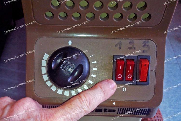remplacement contacteur 3 positions radiateur électrique